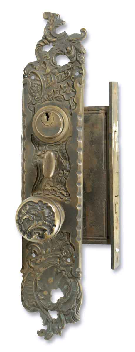 Ornate Knob & Lock Entry Set