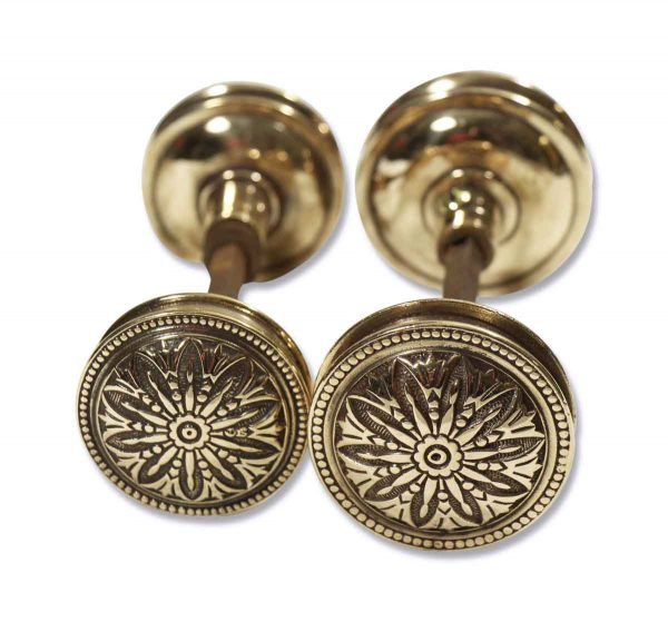 Floral Gold Colored Knob Sets