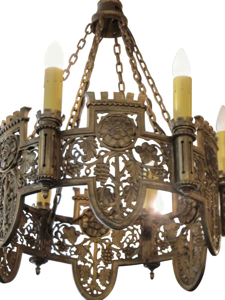 Beautifully detailed six light bronze english tudor chandelier beautifully detailed six light bronze english tudor chandelier aloadofball Choice Image