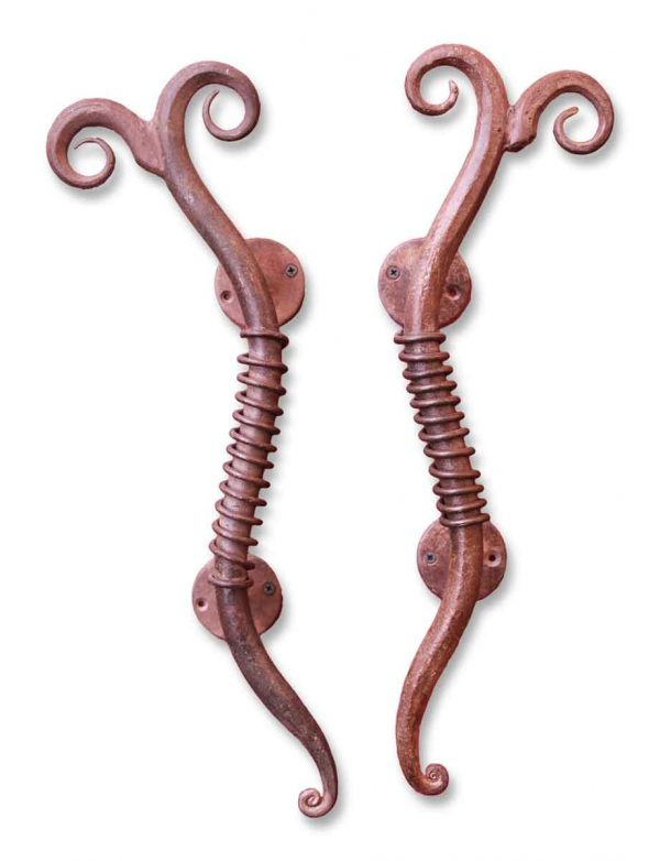 Pair of Iron Unique Door Pulls