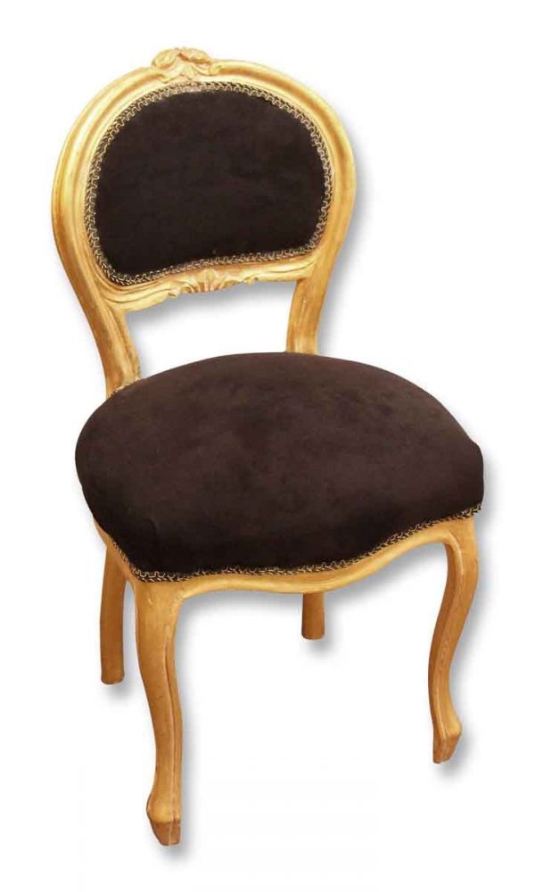 Set of Four Black & Gold Chairs