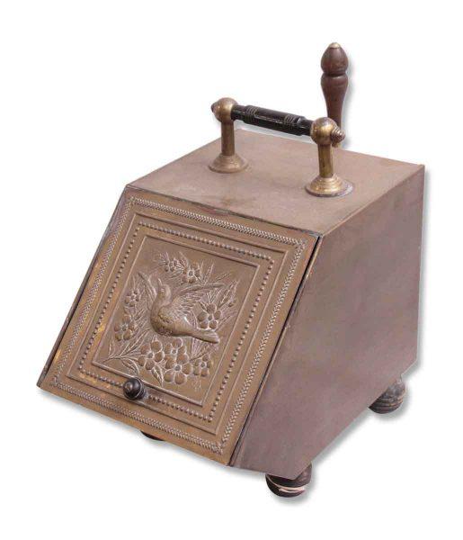 Pretty Coal Box with Bird Detail