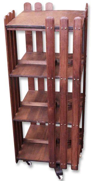 Arts & Crafts Revolving Wooden Bookcase
