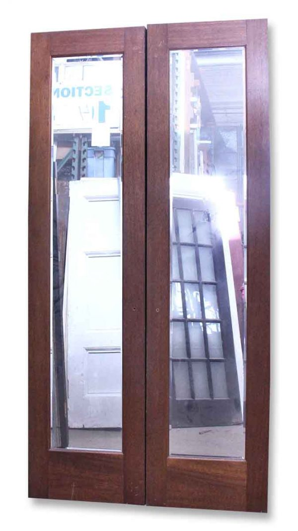 Wooden Doors with Mirrors on One Side