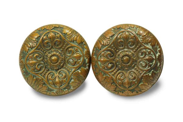 Collector's Quality Pair of Ornate Knobs