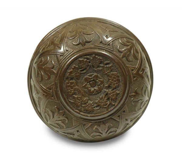 Collector's Quality Floral Bronze Knob