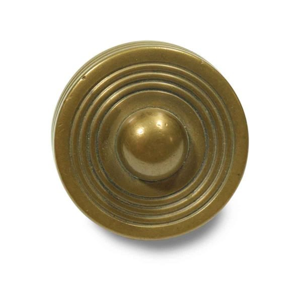 Collector's Quality Brass Knob with Circular Pattern