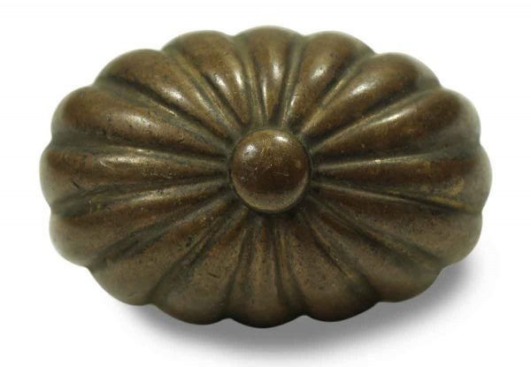 Collector's Quality Bronze Fluted Oval Knob