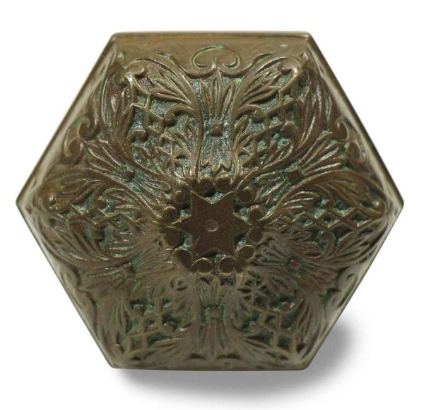 Collector's Quality Hexagonal Bronze Knob