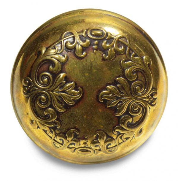 Collector's Quality Ornate Brass Round Vernacular Knob