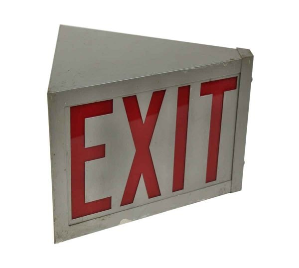 Vintage Double Sided Exit Sign