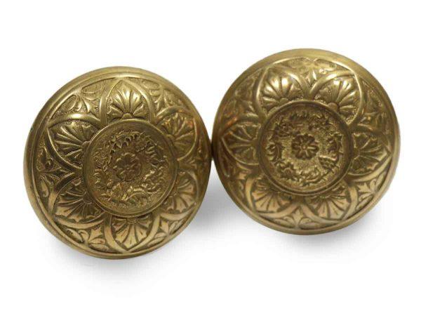 Collector's Quality Brass Vernacular Knob Set
