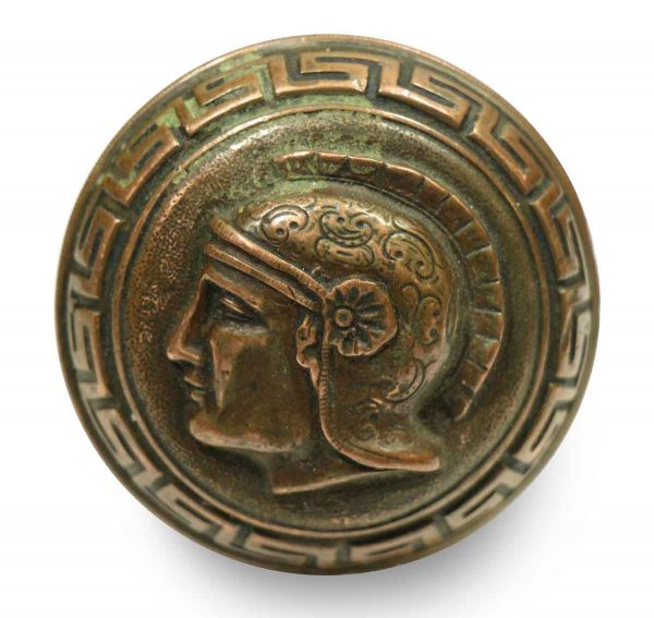 Collector's Quality Bronze Greek Head Knob