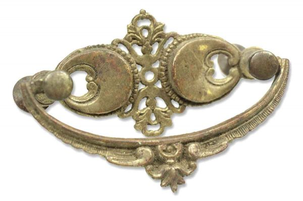 Pair of Brass Ornate Furniture Bail Pulls