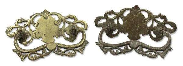Pair of Ornate Victorian Drawer Pulls