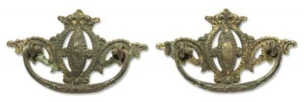 Pair of Brass Victorian Drawer Pulls