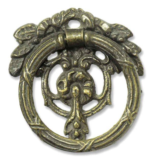Pair of Brass Round Ornate Bail Pulls