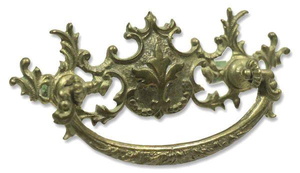 Set of Six Ornate Brass Victorian Pulls