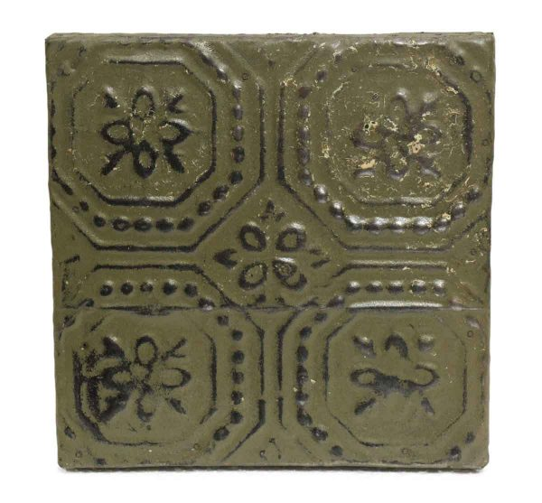 Moss Green Geometric Tin Panel