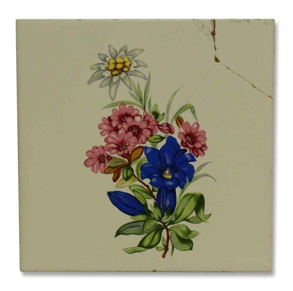 Vintage Floral Ceramic Tile