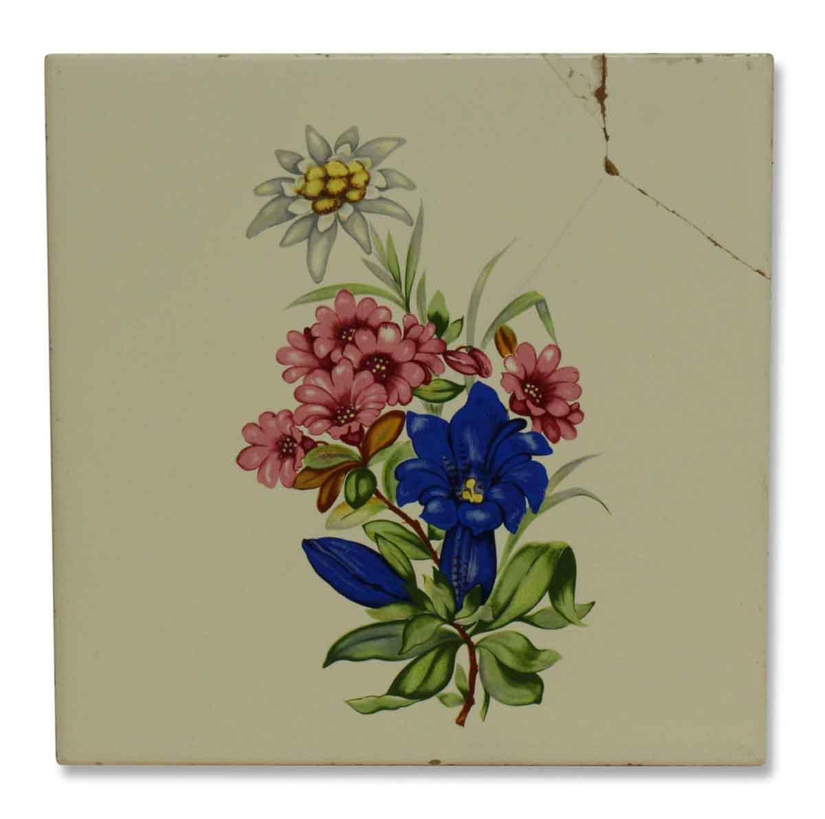 Vintage Floral Ceramic Tile Olde Good Things