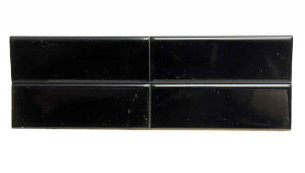 Glazed Black Bull Nose Ceramic Tile Set