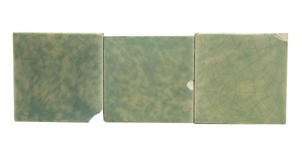 Set of 3 Green Tiles