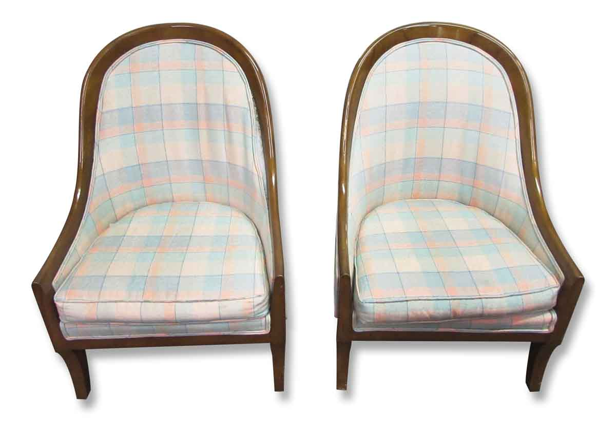 Pair of cube accent chairs olde good things for Pair of chairs for living room
