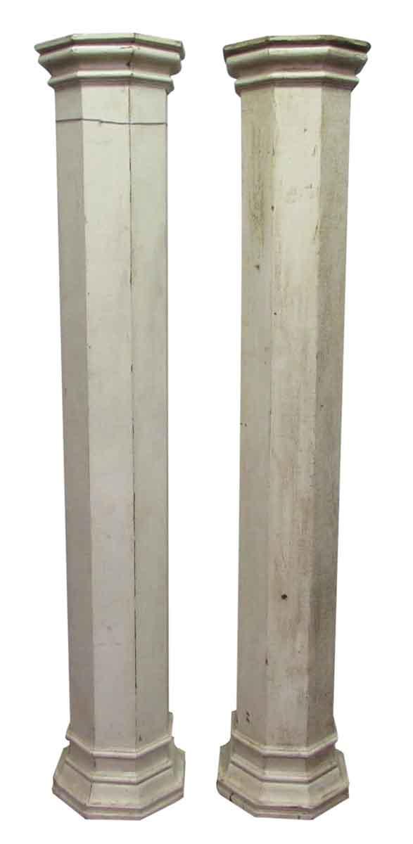 White Wood Columns