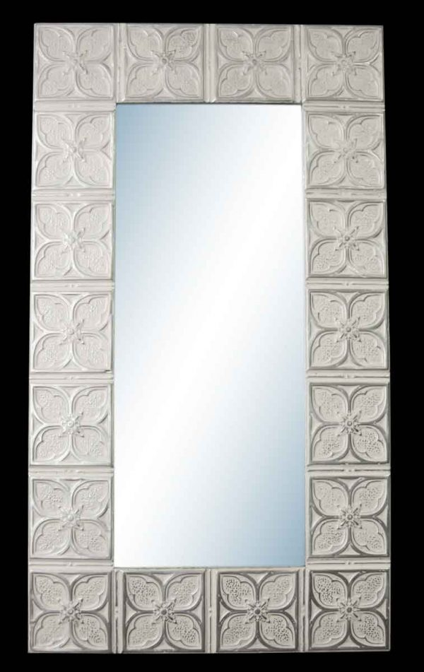 Tom Flower 10 in. Tin Framed Mirror