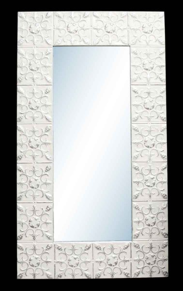 Globe Flower 10 in. Tin Framed Mirror