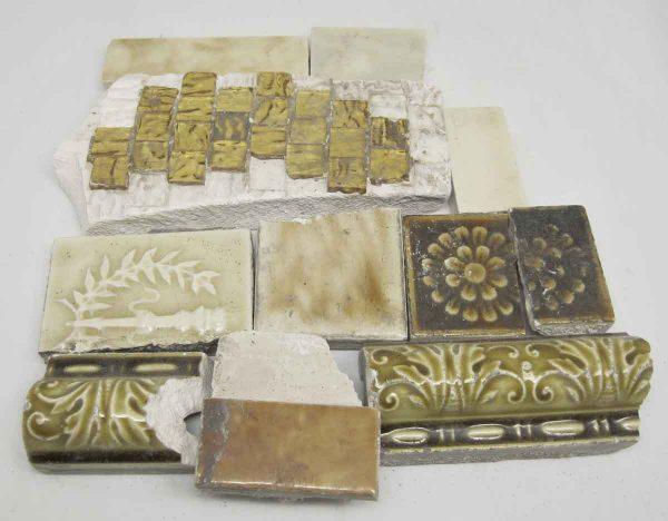 Set of Eleven Yellow Assorted Broken Tiles