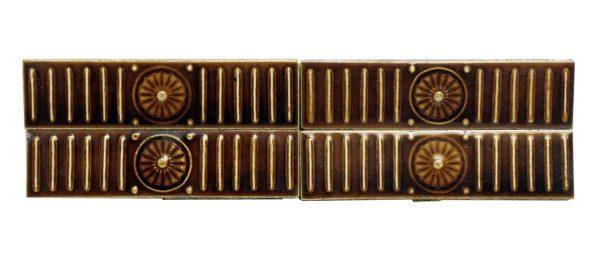 Dark Brown Burst Accent Ceramic Tile