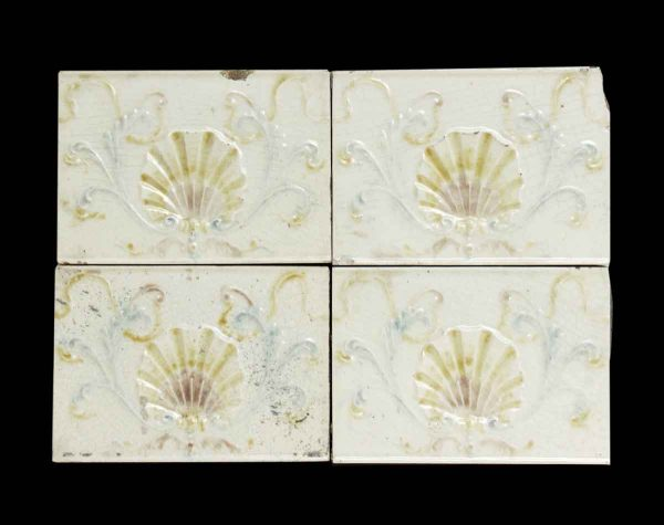 Set of 6 Shell Decorative Tiles