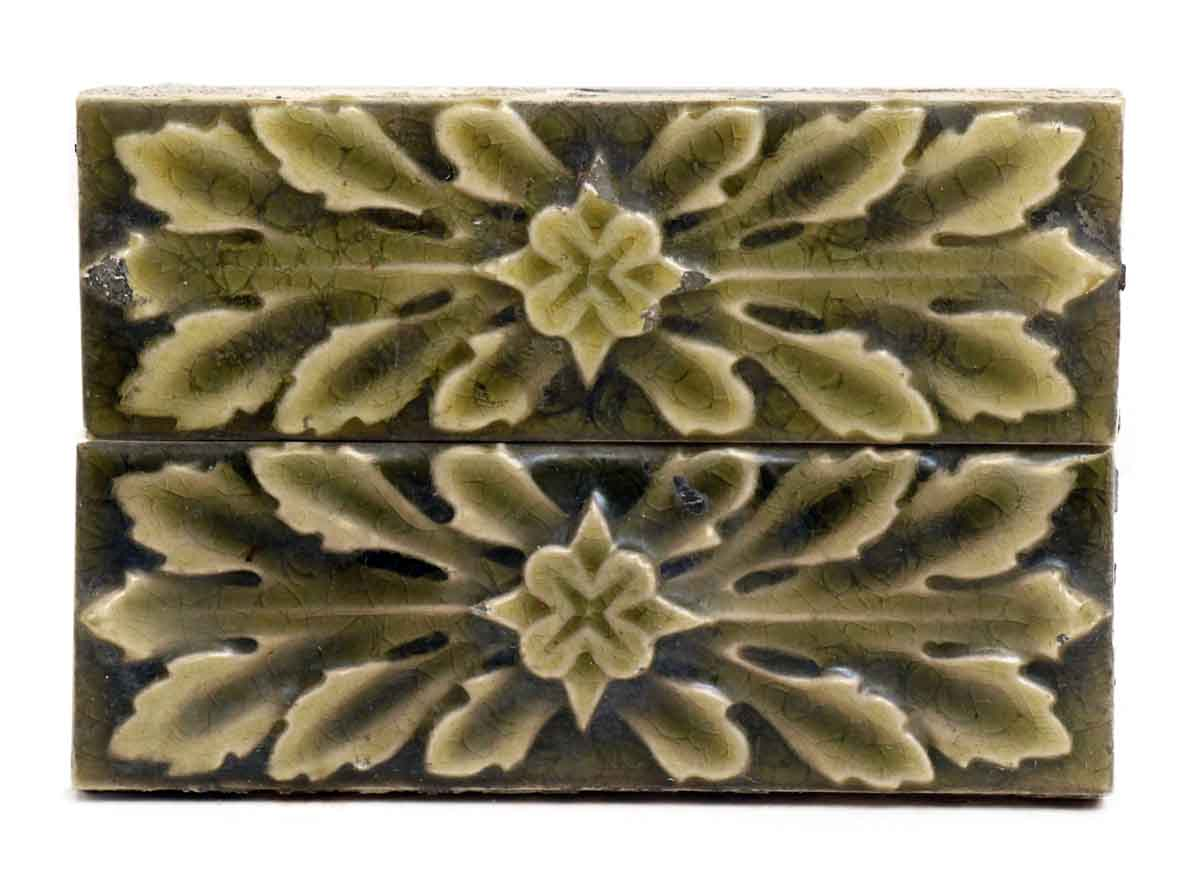 Set Of Leafy Green Decorative Tiles Olde Good Things