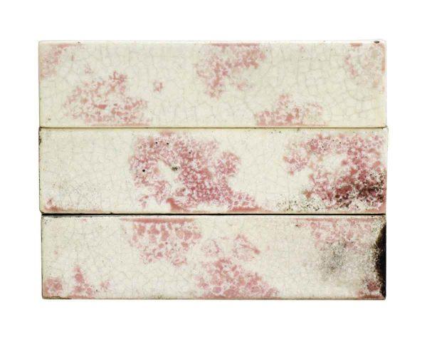 Set of 11 Pink & White Decorative Tiles
