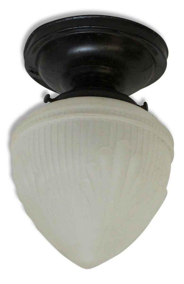 Flush Mount Light with Glass Acorn Globe