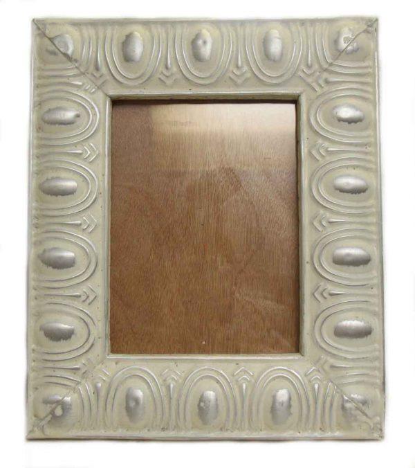 White & Sliver Tin Picture Frame