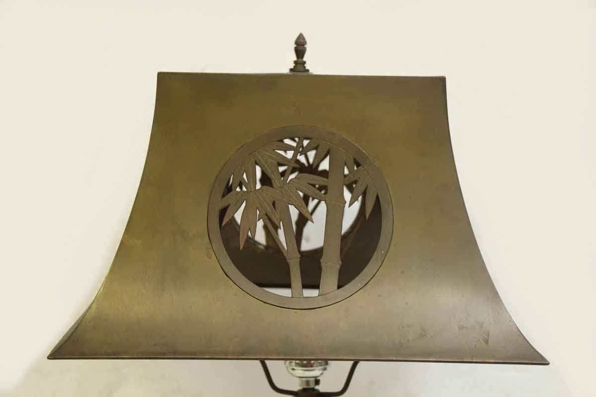 Pair Of Metal Lamps With Cut Out Metal Shade Olde Good Things