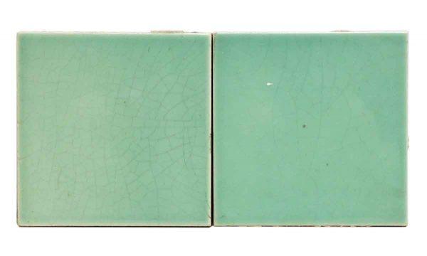 Set of Mint Green Ceramic Tiles