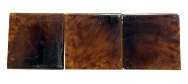 Set of Brown Square Ceramic Tile