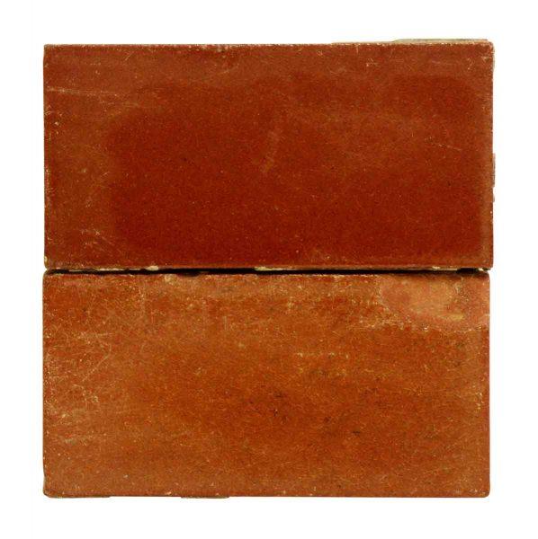 Set Six Small Burgundy Tile