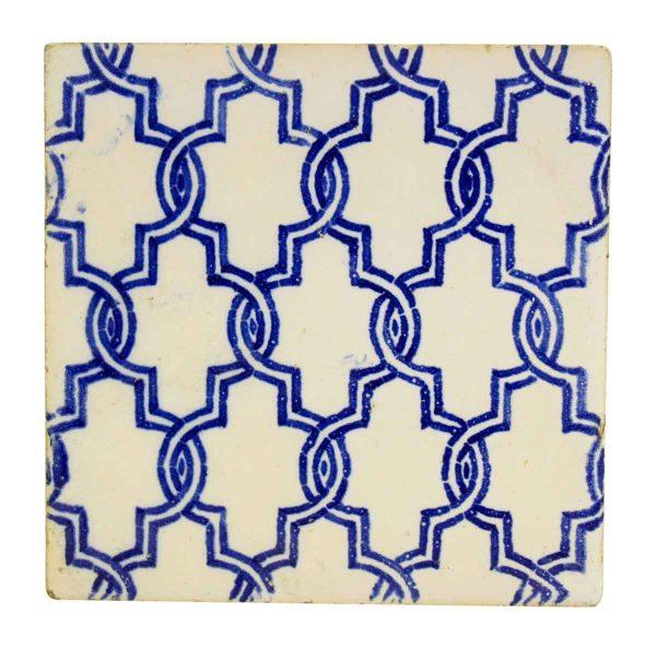 Large Blue & White Decorative Tile