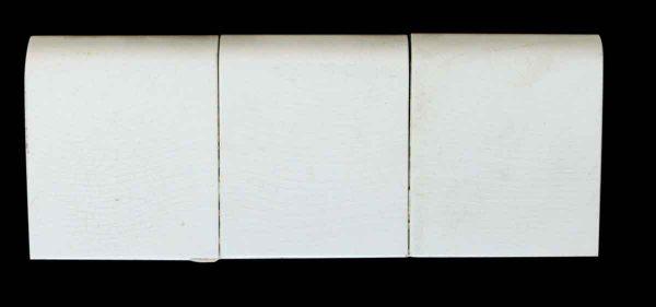 Set of Six White Cap Tiles
