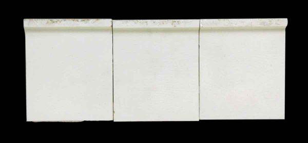 Set of Nine White Curved Inside Corner Tiles