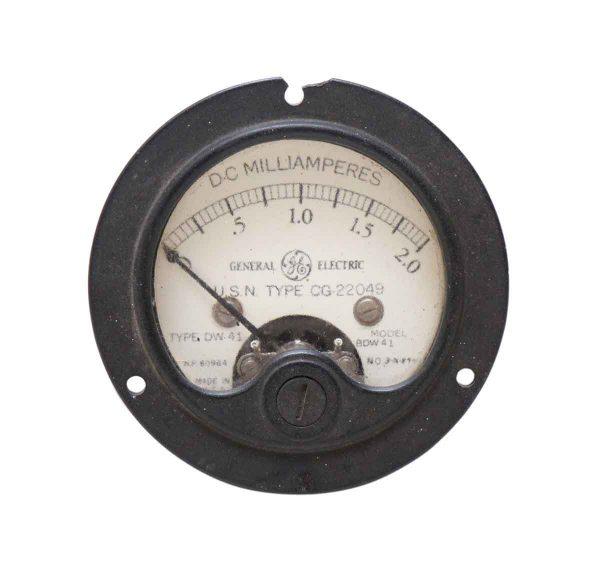 Ge Vintage Milliamperes Dc Test Meter