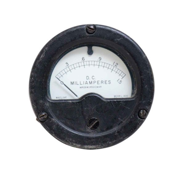 Round Vintage Milliamperes Dc Meter