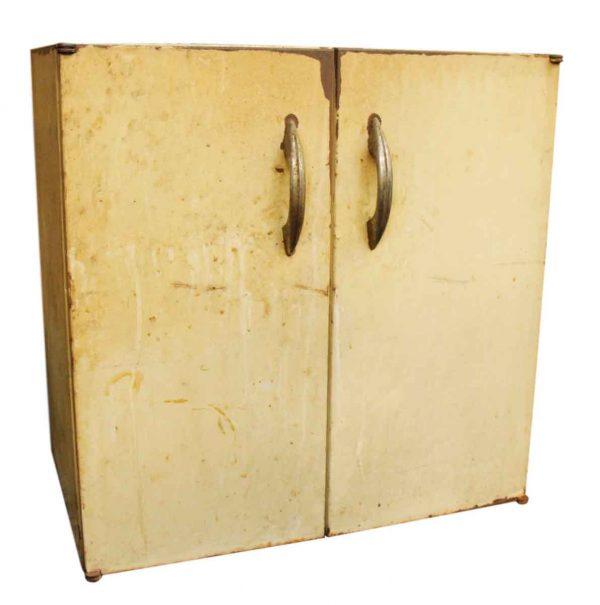 Very Worn Enameled Steel Cabinet