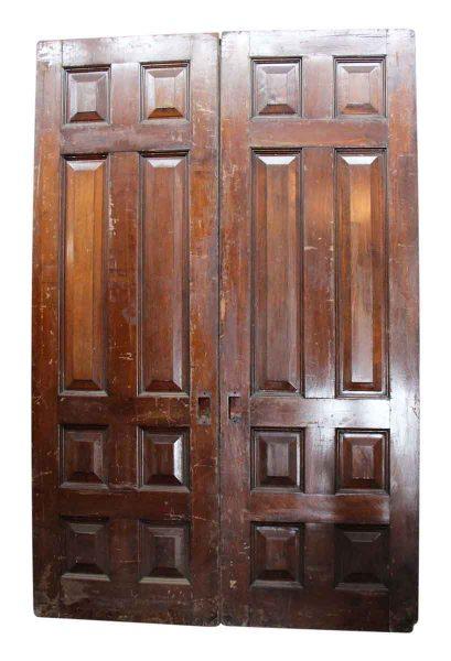 Pair of Dark Wood Double Doors