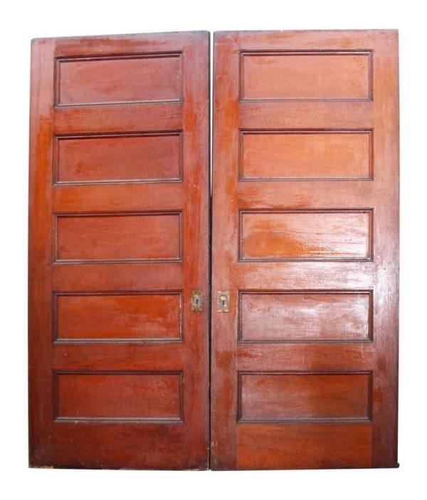 Pair of Wide Wooden Pocket Doors